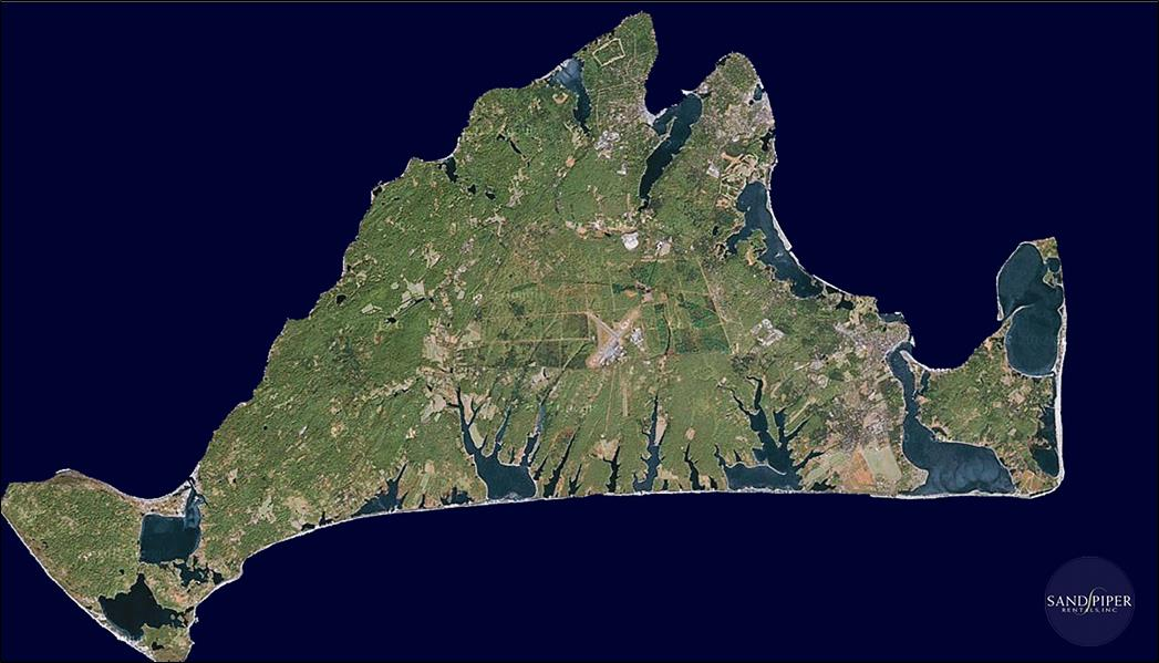 Marthas Vineyard vista aérea