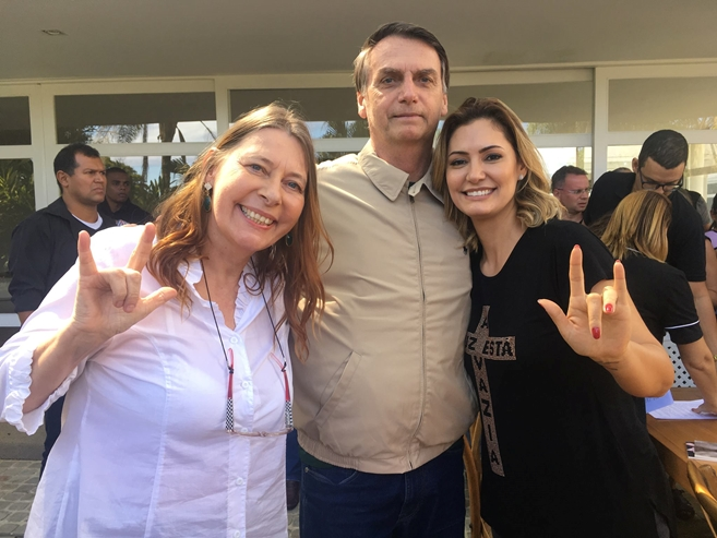 Karin Strobel, Jair Bolsonaro e Michelle Bolsonaro